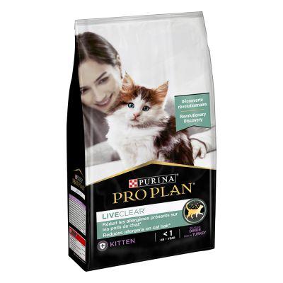 Purina Pro Plan LiveClear Kitten peru: ração que ajuda a combater a causa da alergia a gatos